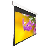 Wholesale 106 quot Electric Tab tensioned Screen with Acoustically Transparent Fabric