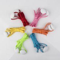 Wholesale fiber optic led shoelaces resale online - New LED Lamp beads Flashing Shoe Lace Fiber Optic Shoelace Luminous Shoe Laces Light Up Flash Glowing Shoeslace Disco Party DHL free