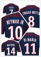 Wholesale Mens Cheap Shorts - customized 17-18 mens 10 Neymar Jr Thai Quality Soccer Jersey,9 CAVANI 23 Draxler Soccer Wear,Cheap 29 Mbappe 11 DI MARIA MENS football Wear