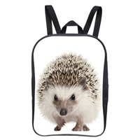 Wholesale Hedgehogs Backpacks - Wholesale- New Popular 12 Inch Cool Printing Hedgehog Animal Baby Boys Backpack Children Girls School Bags Kids Bookbag For Student Bag 007