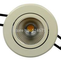 chips de alto lumen led al por mayor-Luz de techo llevada Dimmable10w del envío libre, altos lúmenes 95 ~ 100LM / W COB LED Downlight 10W LED abajo luz Epistar Chip CERoHS
