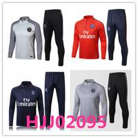 Wholesale Belted Suit Jacket - AAA+ 2017 2018 Paris soccer tracksuits 17 18 NEYMAR JR survetement football training suit jackets saint germain MBAPPE tracksuit Soccer set