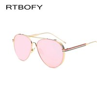 Wholesale Lady Sunglasses Wholesale - Wholesale- 2017 Fashion Aviator Sunglasses Women Men Brand Designer Male Sun Glasses For Women Lady Sunglass Female Glasses oculos de sol