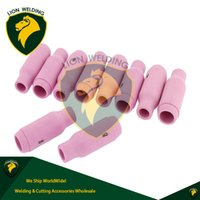 Wholesale Plasma Arc Welder - TIG Consumables SR17 26 18 Torch Pink Ceramic Nozzles #5 Accessories Kit Collet Bodies Back Cap Fit for TIG Arc Welder Torch WP17 18 26 10pc