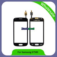 Wholesale Screen Glass Trend - 4.0 inch S7580 Digitizer For Samsung Galaxy Trend Plus S7580 S7582 Touch Screen Panel Sensor Lens Glass Phone Parts