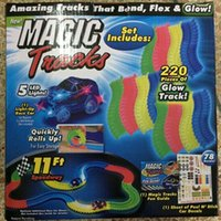 magic growing toys prices - 220pcs DHL Magic Tracks Bend Flex Racetrack for Kids Amazing Race Track Children Railcar LED Car Grows In The Dark