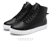 Wholesale Hot Korean Boots - 2016 autumn and winter men 's young men' s shoes black and white men 's casual shoes Korean version of the trend hot sale