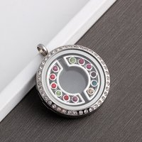 Wholesale Style Ruby Jewelry - Hot styles white gold and gold Floating locket charms Diamond Accessories for DIY Lockets Jewelry Fashion Accessories