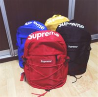 Wholesale Supreme Backpack School Bag Fashion Outdoor Duffle Bags ss th Supremes Children Backpack School Bag Travel Bag