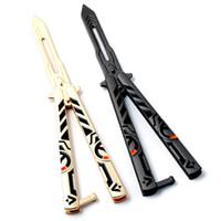 нож для обучения тренеров бабочек оптовых-Нержавеющая сталь бабочка обучение нож Керамбит складной нож Practice нож подарок тренера