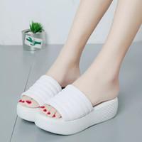 Wholesale Cheap Low Heel Sandals - Cheap New WOMEN SLIPPERS Girls Fashion Indoor Slide Sandals Scuffs Grey Pink Black