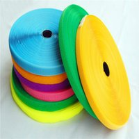 Wholesale Glue Buttons - DIY No glue 2CM*25M pair color nylon Sewing clothing Strong Self Adhesive Hook Loop Tape Fastener Sticky Sewing Hand Craf LZ0226