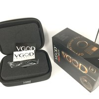 Wholesale large mods online - 100 Original VGOD PRO MECH Box MOD with Deep Engraving VGOD Logo Spring Loaded with Large Vent Holes Thread Ecig vape Mods