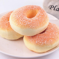 Wholesale Miniature Brand - 1PC Brand 1PC Squishy New Bagels Bread Breadcrumb Doughnut Scented Food Simulation Decor Donuts Charms Miniature Figures