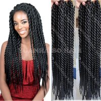 Wholesale New Fashion inch jet black synthetic kinky twist crochet braid senegalese twist for black women