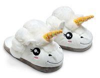 Wholesale Medium Stuffed Animals - 2017 Unicorn Short Plush slippers Stuffed Plush animal sandals for Big girls and Ladies US size 5.5-8
