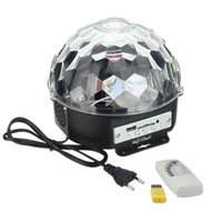 Wholesale YouOKLight Color W Digital RGB LED Music Crystal Magic Ball Effect Light MP3 USB Disco DJ Stage Lighting Remote Control Bluetooth Contro