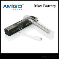 Wholesale Max V9 - New iTsuwa Amigo 380Mah eSmart Max Preheat Battery Bottom Charge Variable Voltage For Liberty Tank V3 V5 V9 100% Original