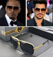 Wholesale Butterfly Shaped Case - Brand sunglasses Mach One men brand designer square shape retro vintage summer style men sunglasses shiny 18K gold original cases and box