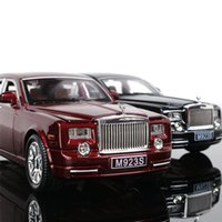 Wholesale Toy Cars Open - Car Model 1:24 Rolls-Royce Phantom Alloy Diecast Exquisite Car Toy Open Door Pull Back Cars Gifts