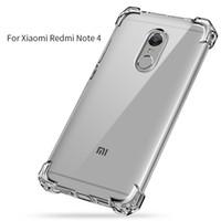 Wholesale Silicone Cover For Blackberry - Xiaomi Redmi Note 4 Case Luxury Anti-knock Silicone for Xiaomi Redmi Note 4x Case Cover TPU Transparent Clear Full Protective