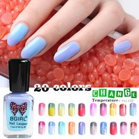 Wholesale Gradient Nail Polish - New Nail Thermal Polish Temperature Change Nail Color Stamping Nails Polish Gradient Manicure Pedicure Easy Peel Eco 11ml 2017