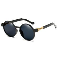 fashion sunglass toptan satış-Erkekler Kadınlar Için güneş gözlüğü Lüks Erkek Sunglass Moda Sunglases Retro Güneş Gözlükleri Bayanlar Güneş Yuvarlak Tasarımcı Güneş Gözlüğü 2C7J25