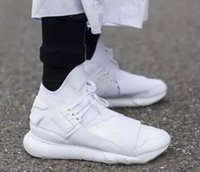 Wholesale Y3 Boots - 2017 All White Color Mens Y3 Qasa High Top Sneakers Good Quality Womens Shoe Unisex Men Classic Y-3 Black Shoes Boots Size 36-45