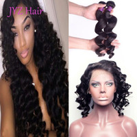 Wholesale 360 Lace Frontal With Bundles Brazilian Malaysian Indian Peruvian Virgin Hair Loose Wave Human Hair Extensions Bundles With Closures