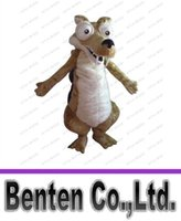 Wholesale Squirrel Mascot Costumes - Hot sale Adult Squirrel Ice Age mascot costume adult costume cartoon costumes party outfits carnival costume LLFA