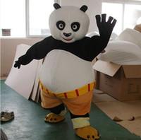 Wholesale Cartoon Character Costume Panda - 2017 New fast shipping Mascot Costume Kung Fu Panda Cartoon Character Costume Kungfu Panda Fancy Dress Adult Size