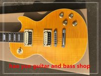 Wholesale in stock electric guitar rose wood fingerboard yellow color custom high quality you can custom made all kind of guitar