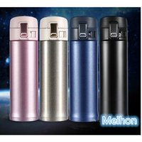 Discount easy carry water bottle 500ml stainless steel thermo vacuum mug with bouncing cover Easy to carry travel mug