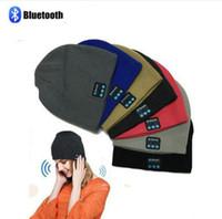 Wholesale Wireless Packaging Bags - Bluetooth Music Beanie Hat Wireless Smart Cap Headset Headphone Speaker Microphone Handsfree Music Hat OPP Bag Package 100pcs OOA2979