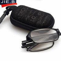 Wholesale Polycarbonate Lights - Black tr90 folding reading glasses ultra-light fashion glasses women men eyeglasses go with case oculos de grau polycarbonate