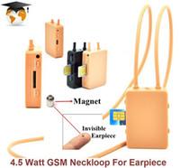 Wholesale Earpiece For Fbi Wireless - 2017 Smallest mini Wireless Micspy earpiece with 4.5Watt powerful gsm box neckloop for FBI