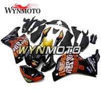 Barato Plásticos Repsol Pretos-Motorcycle Plastics ABS Injection Repsol Black Orange New Carrinhos para Honda CBR250RR 2011 2012 2013 2014 Ano Full Fairing Kit Bodywork
