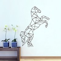 black horse festival - Geometric Vinyl Horse Wall Decal Creative Animal D Effect Wall Sticker Home Decor Art Mural for Living Room Kids Bedroom