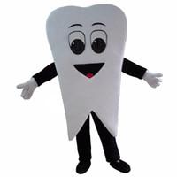trajes de dentes venda por atacado-Promoção New Professinal Tooth Dentist Costume Mascot Frete Grátis
