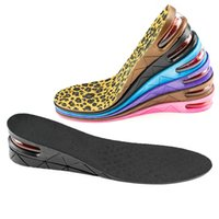 Wholesale women height increasing insoles - 2 Layer Insoles PVC Air Cushion Height Increase 5 cm Insole Lift Inserts Higher Shoes Pads For Men and Women