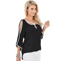 Wholesale Ladies Half T Shirts - Wholesale- 2016 Sexy Ladies Off Shoulder Summer Tops Women Lace Patchwork T-Shirt Plus Size Casual Half Batwing Sleeve Hollow Out T Shirt
