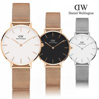 Wholesale Fashion Woman Watches - New dw watch female 32mm stainless steel watch bracelet rose gold luxury brand daniel wellington quartz watches women fashion montre femme