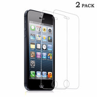 Wholesale Screen Protectors For Iphone5 - empered Glass Screen Protector for iPhone5 iPhone SE 5 5C 5S 5SE HD Clear Film Glossy Anti-Glare Round Edge