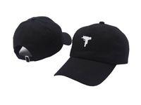 Wholesale cream gun - Top selling Uzi Gun Baseball Cap US Fashion 2017 Snapback Hip hop Cap HEYBIG Curve visor 6 panel Hat casquette de marque caps