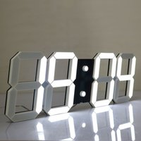 Wholesale Led Digital Count Up - Large Display Led Wall Clock with Remote Control Countdown Count Up Led Clock Timer with Temperature Date 6'' White Led Digits High Visible