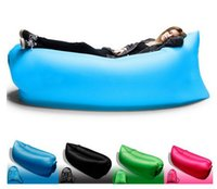 Wholesale Fast Inflatable Air Sleeping Bag Waterproof Lazy Sofa Bed Festival Camping Hiking Travel Hangout Beach Bag Bed Camping Banana Couch