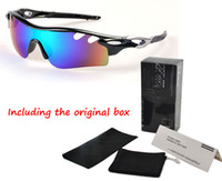 Wholesale Men Cycling Sunglasses - Fashion Cycling Brand Sunglasses for Men Women Summer Bicycle Sports Eyewear Protective Goggle UV400 8 Colors Sun Glasses with Original box