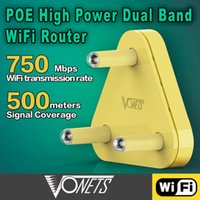 VONETS VAR5G High Power 2.4G / 5G Dual Band Wireless WIFI Router / AP 2.4Ghz 300Mbps + 5Ghz 450Mbps Decke POE 48V 802.11AC