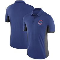 Wholesale Polo Xxl - 2017 New MLB Mens Chicago Cubs Royal Blue Authentic Collection Elite Polo T-Shirt MLB Baseball T-Shirts