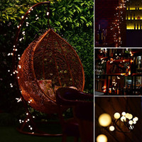 Wholesale Globe Wedding String Lights - String Lights Plug In LED Ball Starry LED Light with 8 ft 72 LEDs Waterproof Globe Fairy Lights for Patio Curtain Wedding Christmas